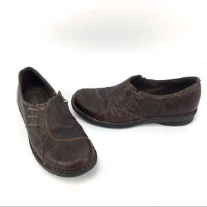 Clarks Bendables Whistle Crinkled Leather Loafers